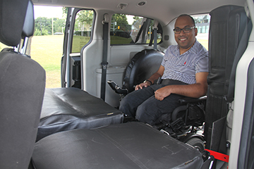 Image of accessible taxi
