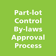 Part-lot Control By-laws Approval Process