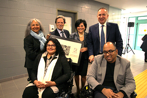 Mayor Maurizio Bevilacqua and Members of Council with members of the Vaughan Accessibility Advisory Committee at the Innovative