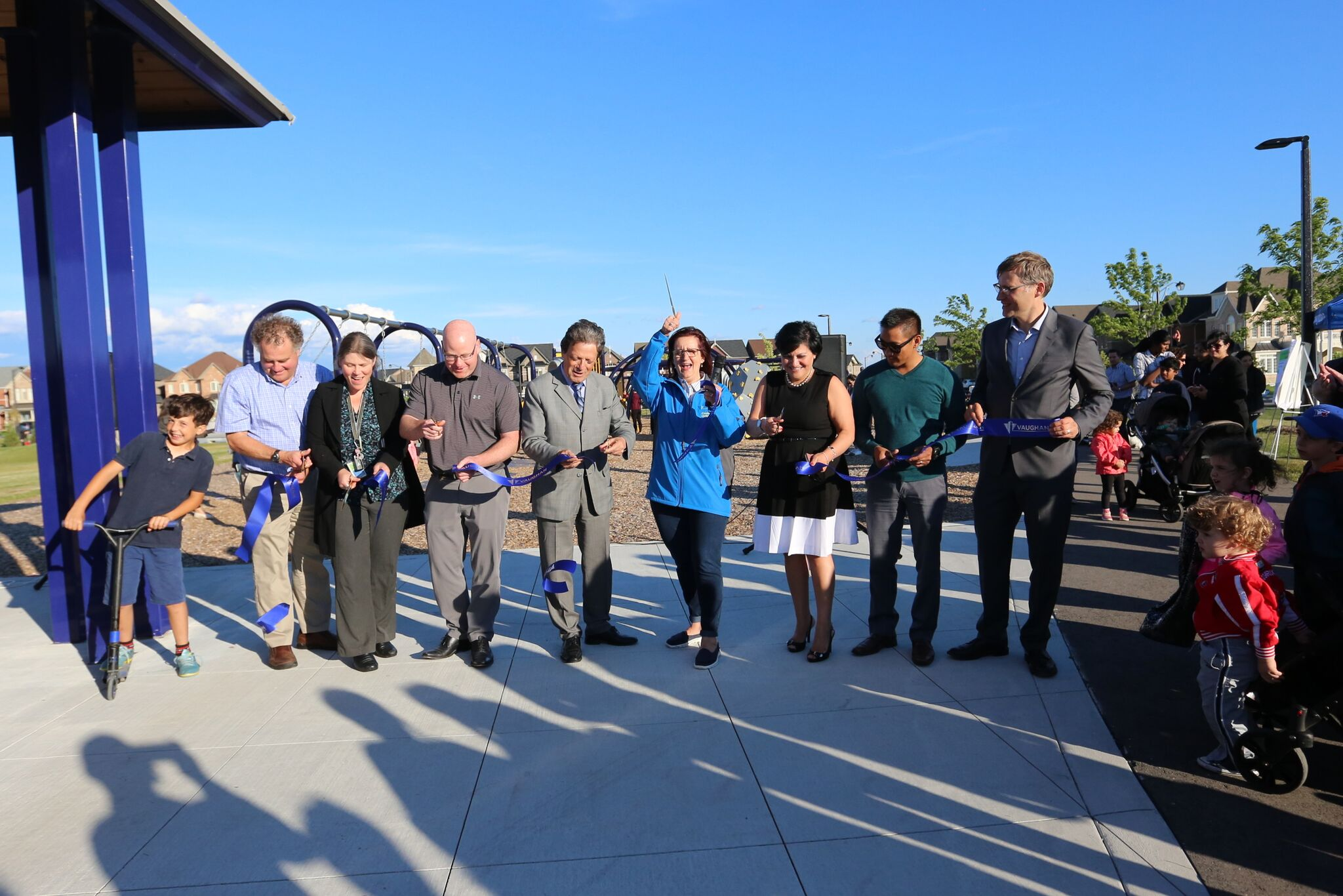 Secord Park ribbon cutting ceremony