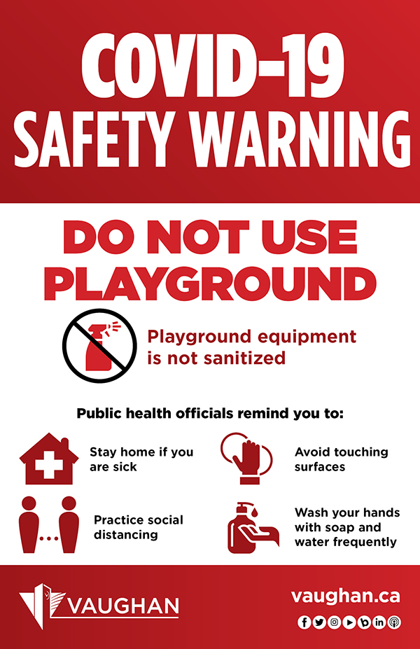 Don't go to playgrounds graphic