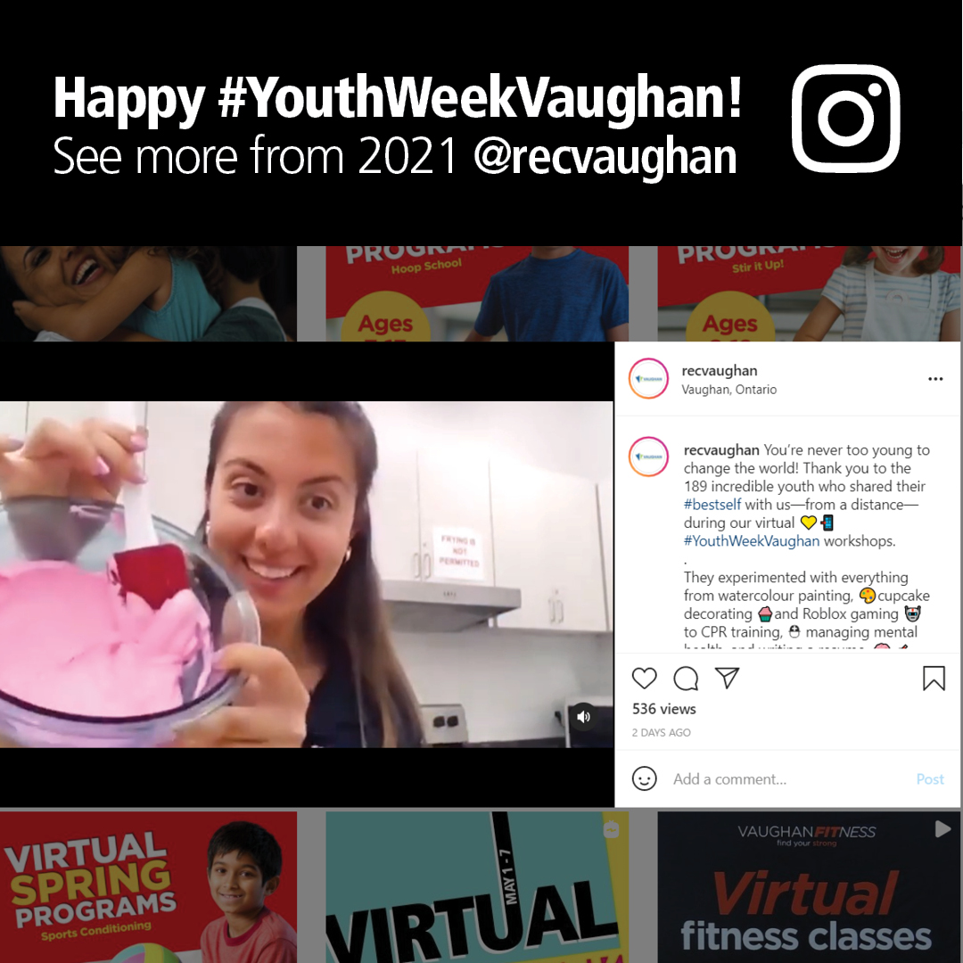 Happy #YouthWeekVaughan! See more from 2021 @recvaughan.