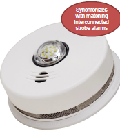 Fire alarm with strobe light