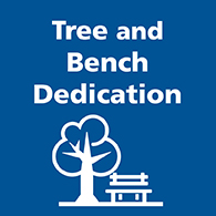 Tree and bench dedication button