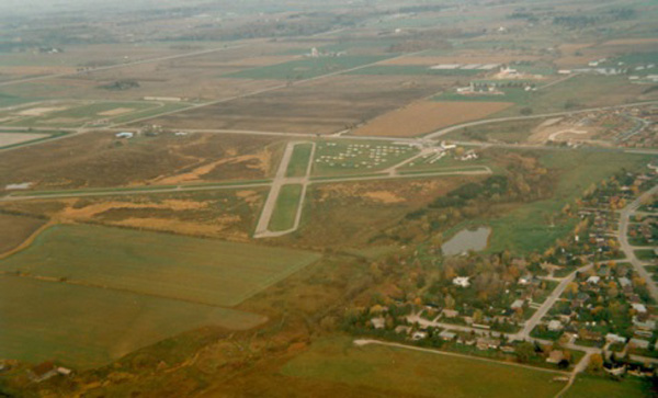 Aerial view of Maple Airport (1985)